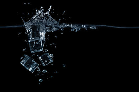 Falling ice cubes