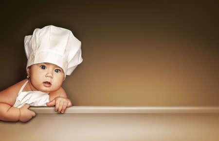 Little baby chef Foto de archivo