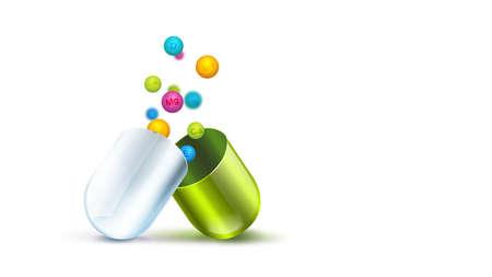 Health pill with vitamins balls Foto de archivo