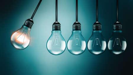 Motivation concept image with light bulbs Foto de archivo