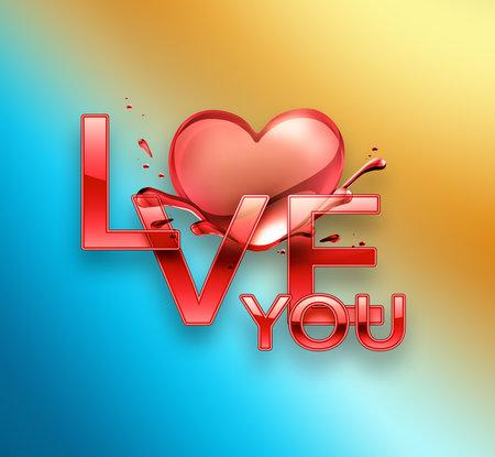 Love you design Foto de archivo