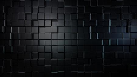 Dark cubes wall background