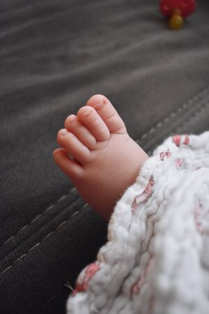 closeup baby foot