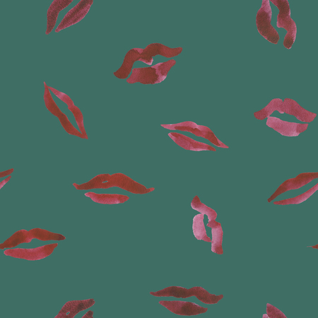 Seamless hand drawn watercolor floral ikat background. Pattern  for textile, ceramics, fabric, print, cards, wrapping  Stock Photo