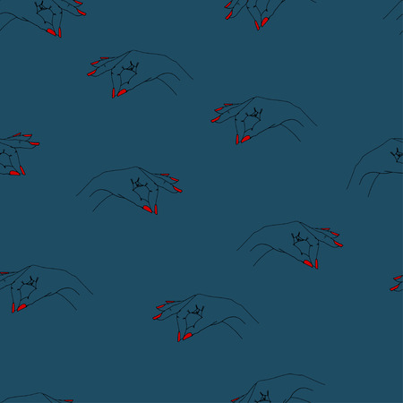 steep: Seamless vector pattern with arms for textile, ceramics, fabric, print, cards, wrapping