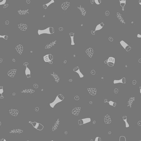 porter: Seamless vector pattern with beer  for textile, ceramics, fabric, print, cards, wrapping