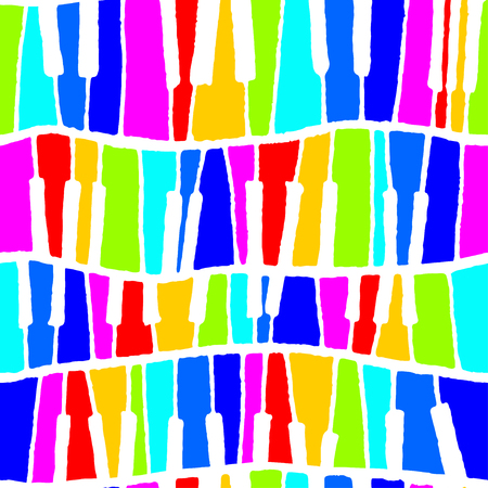 Seamless vector piano pattern in rainbow negative tones for wrapping, craft, textile, ceramic Illustration