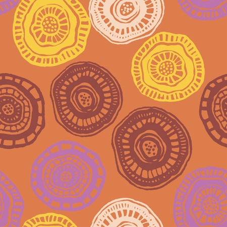 Vector seamless pattern with hot aborigine flowers for fabric, textile, ceramic, craft, wrapping
