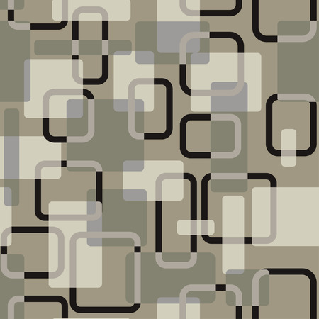 Vector abstract squares seamless grey-coloured pattern for wrapping, craft, textile, fabric, ceramic Illustration