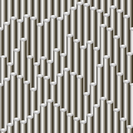 Seamless vector gradient grey tubing pattern for wrapping, craft, fabric, textile