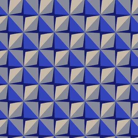 Vector papper stickers cut-out tile blue seamless pattern for fabric, textile, craft, wrapping, wallpaper 向量圖像