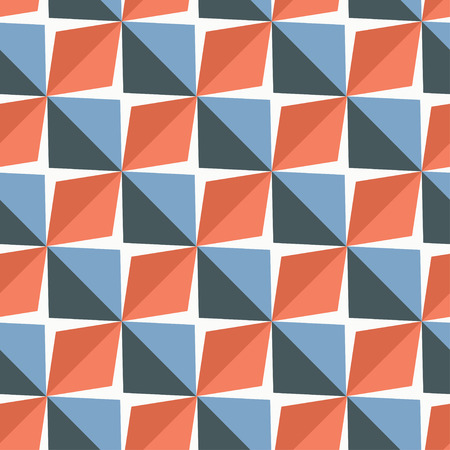 Vector papper stickers cut-out tile blue and red seamless pattern for fabric, textile, craft, wrapping, wallpaper 向量圖像