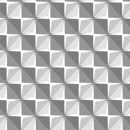 Vector papper stickers cut-out tile grey on white seamless pattern for fabric, textile, craft, wrapping, wallpaper