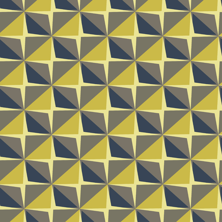 Vector papper stickers cut-out tile yellow seamless pattern for fabric, textile, craft, wrapping, wallpaper