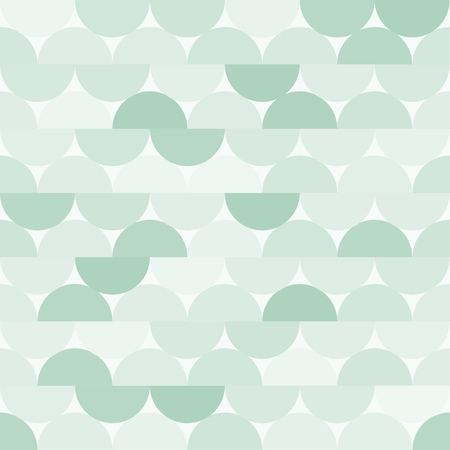 Seamless vector halves rounds colourful green pattern for textile, fabric, wrapping, craft, ceramic