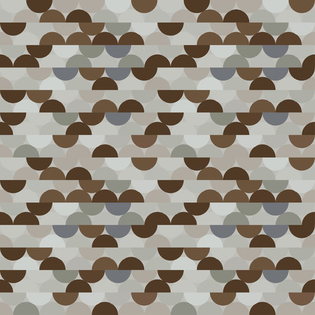 Seamless vector halves rounds colourful metal pattern for textile, fabric, wrapping, craft, ceramic 向量圖像