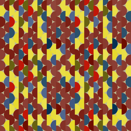 Seamless vector halves rounds colourful bright pattern for textile, fabric, wrapping, craft, ceramic