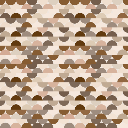 Seamless vector halves rounds colourful coffee pattern for textile, fabric, wrapping, craft, ceramic 向量圖像
