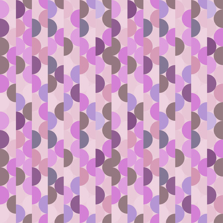 Seamless vector halves rounds colourful pink pattern for textile, fabric, wrapping, craft, ceramic