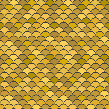 Paper scales seamless vector squama gold metal pattern for fabric, textile, wrapping, craft, seramic