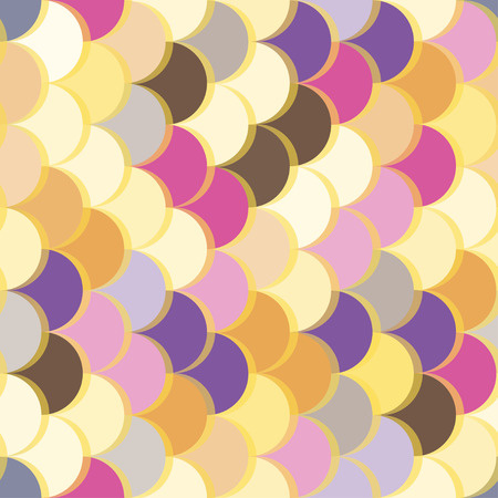 Paper scales seamless vector squama colourful yellow stickers pattern for fabric, textile, wrapping, craft, seramic 向量圖像