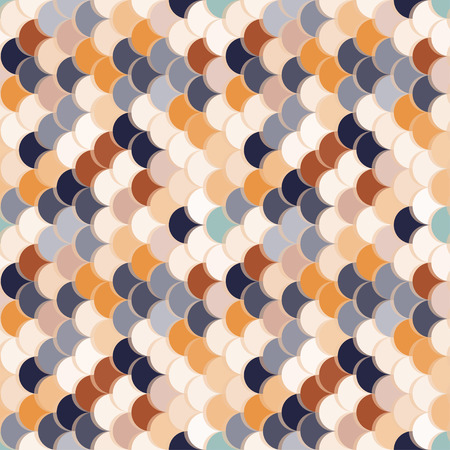 Paper scales seamless vector squama retro stickers pattern for fabric, textile, wrapping, craft, seramic