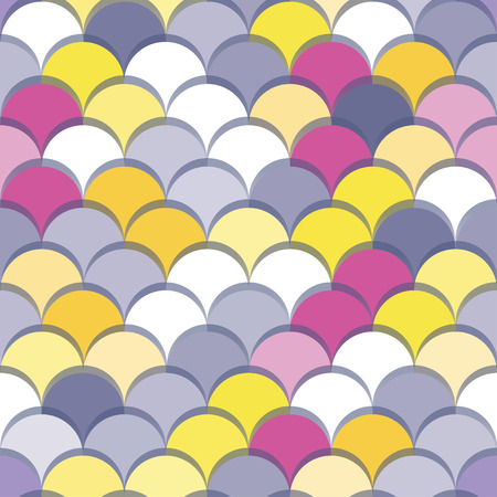 Paper scales seamless vector squama colourful stickers pattern for fabric, textile, wrapping, craft, seramic