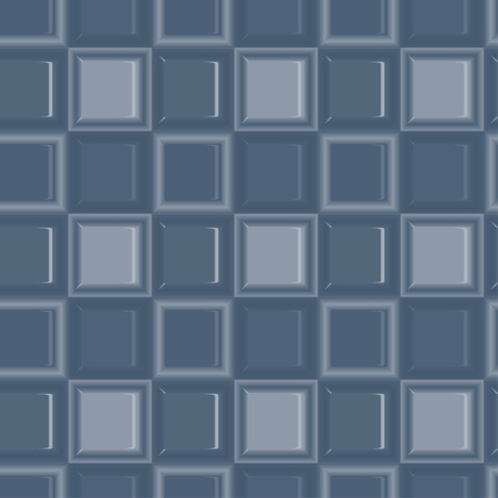 Square colored glass mozaic blue tile seamless vector pattern for wrapping, craft, fabric, wallpaper Illustration