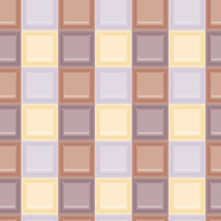 Square colored glass mozaic cream tile seamless vector pattern for wrapping, craft, fabric, wallpaper