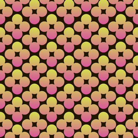 Abstract circles flowers vibrant seamless gradient pink and yellow pattern for craft, wrapping, fabric, textile