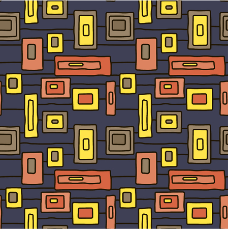 Abstract light windows vector seamless pattern for wrapping, craft, textile