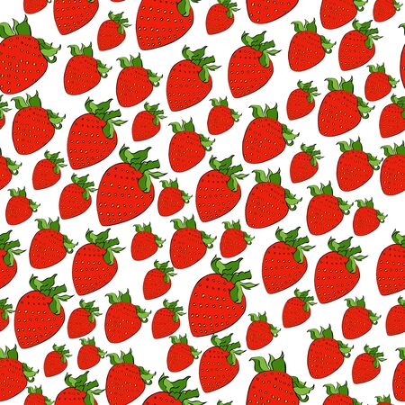 Vector original strawberry color ink chaos pattern