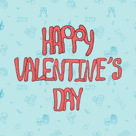 Cute Vector Valentine day card or banner 向量圖像