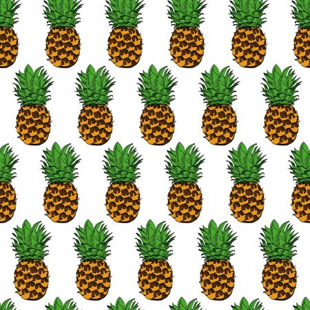 Watercolour original natural pineapple with calligraphy text 版權商用圖片