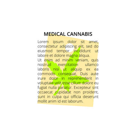 Label for medical cannabies wrapping or text
