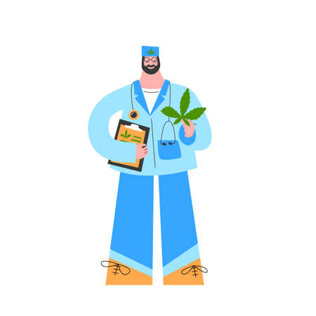 Doctor prescribe medical cannabis oil for treatment