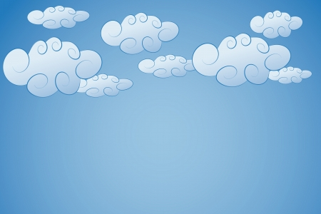 vector illustration of clouds in the sky Stock Vector - 15379536