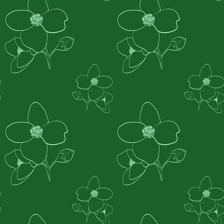 seamless pattern: Jasmine light seamless pattern