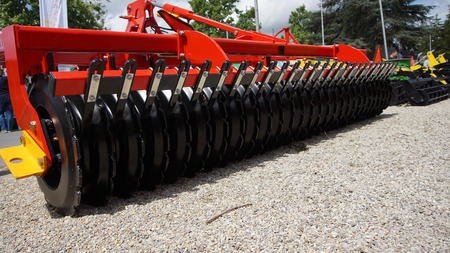 Agricultural cultivator for the processing of land, when used makes the work easier and improves the yield Banque d'images