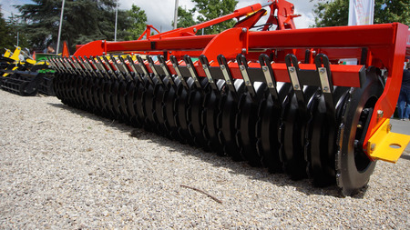 Agricultural cultivator for the processing of land, when used makes the work easier and improves the yield Stock Photo