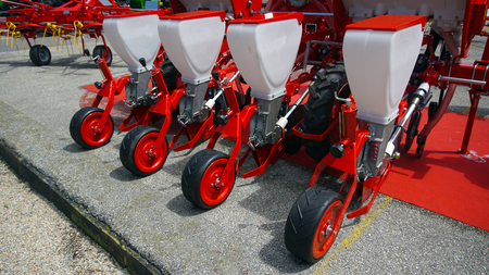 Agricultural cultivator for the processing of land, when used makes the work easier and improves the yield Banque d'images - 95457606