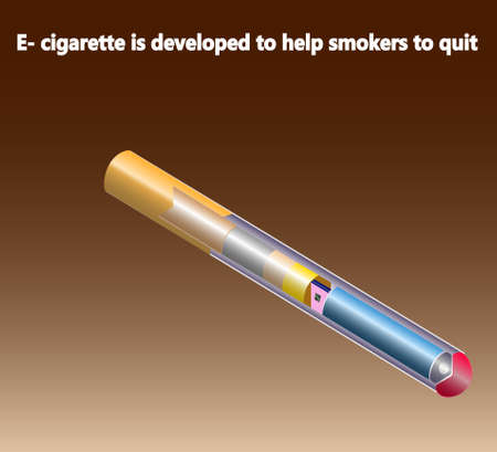 smokers: Electron cigarette to help smokers to quit. Infographic. Illustration