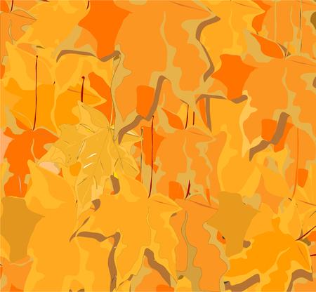er: Abstract yellow leaves background Illustration