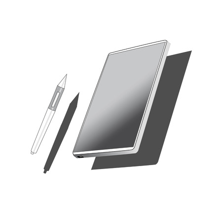 devices lcd tft phone tablet set variation flat material design landing sites graphic isolated vector objects.