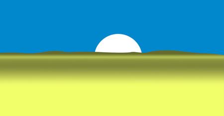 Sun from the desert. vector illustration