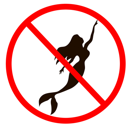 No tail of a girl mermaid vector mermaid illustration. Marmeid sihluette