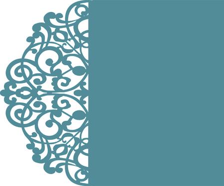 Wedding Card Invitation Template 5x7 '' SVG, Floral Flower Pattern, Laser Cut Template, Instant Cut