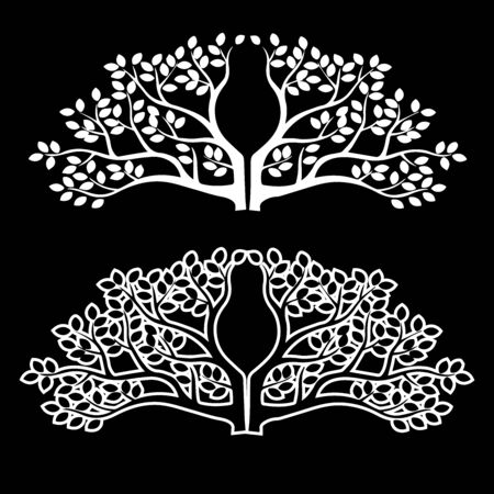 Tree of life, Wedding card Floral pattern, invitation Cut Template, Silhouette