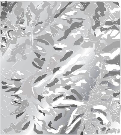 Alluminium rough wrinkle foil texture.Silver foil texture background.silver texture Ilustrace