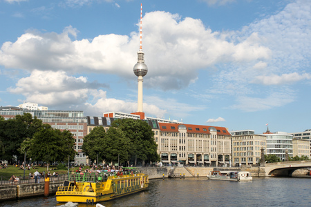 spree: View of Berlin and Spree river